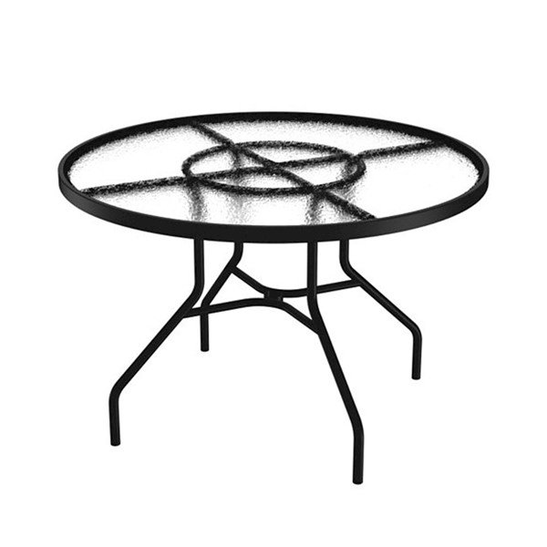 "Standard 42"" Acrylic Round Dining Table without Umbrella Hole by Tropitone - 42 lbs"