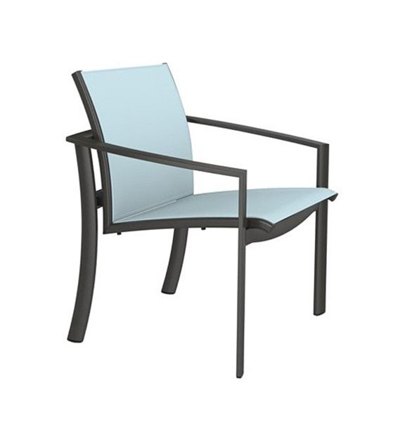 KOR Relaxed Sling Dining Chair With Stackable Aluminum Frame