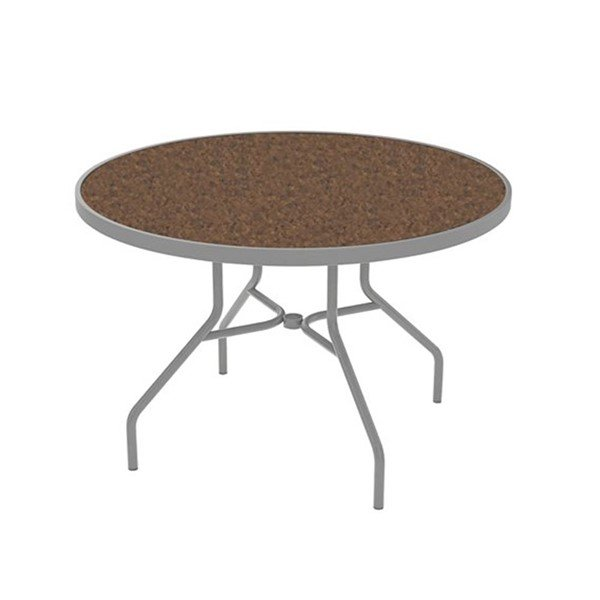 "Standard Base 42"" High Pressure Laminate Dining Table without Umbrella Hole by Tropitone"