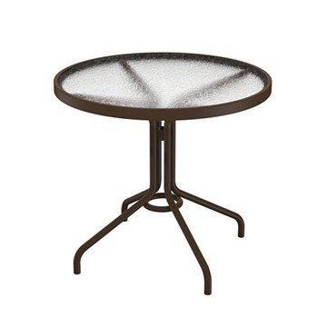 "Standard Frame Base Boulevard Top 30"" Acrylic Round Dining Table by Tropitone - 19 lbs."