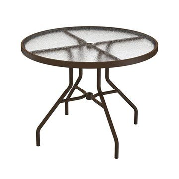 "Standard Base Frame 36"" Acrylic Round Dining Table with Umbrella Hole by Tropitone - 29 lbs"