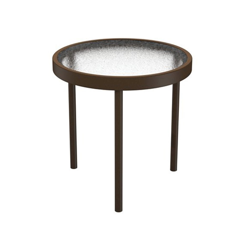 16 Quot Acrylic Round Tea Table With Powder Coated Aluminum