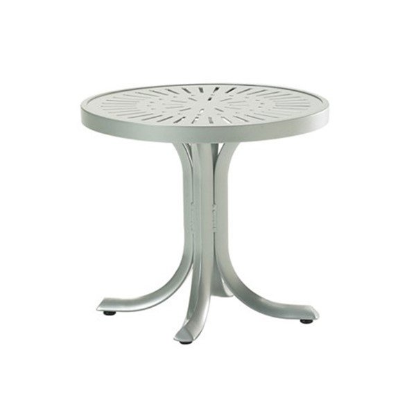 "20"" La'Stratta Round Tea Table with Powder-Coated Aluminum Frame by Tropitone - 14 lbs."