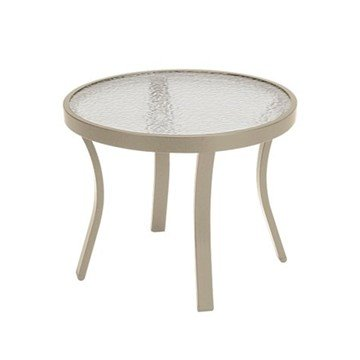 "20"" Round Acrylic Tea Table with Powder-Coated Aluminum Frame by Tropitone - 10 lbs."