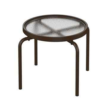 "20"" Round Acrylic Stacking tea Table with Powder-Coated Aluminum Frame by Tropitone - 8 lbs."
