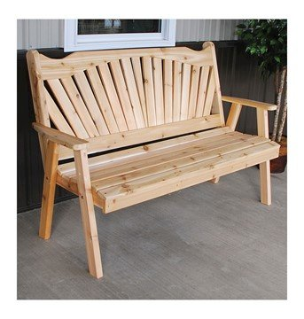 Fanback Wooden Garden Bench