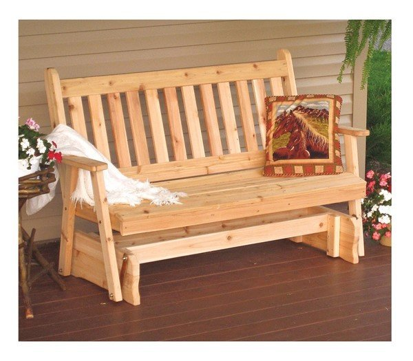 Traditional Wooden Glider Bench