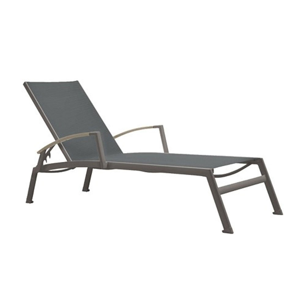 sono sling chaise lounge with powder coated aluminum frame by tropitone furniture leisure. Black Bedroom Furniture Sets. Home Design Ideas