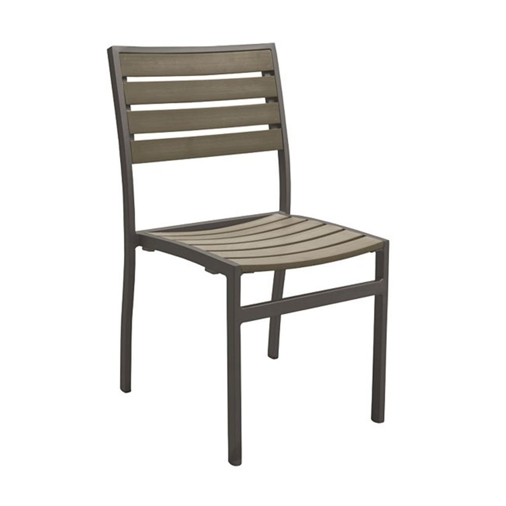 ... Jado Faux Wood Slat Side Chair With Powder Coated Aluminum Frame By  Tropitone   10.5
