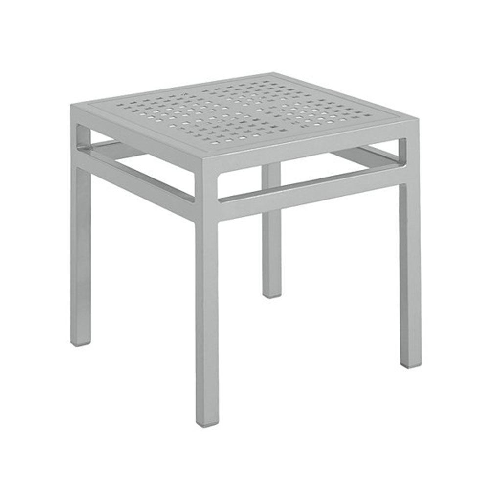 Metal Covered Tables : Quot valora square tea table with powder coated aluminum