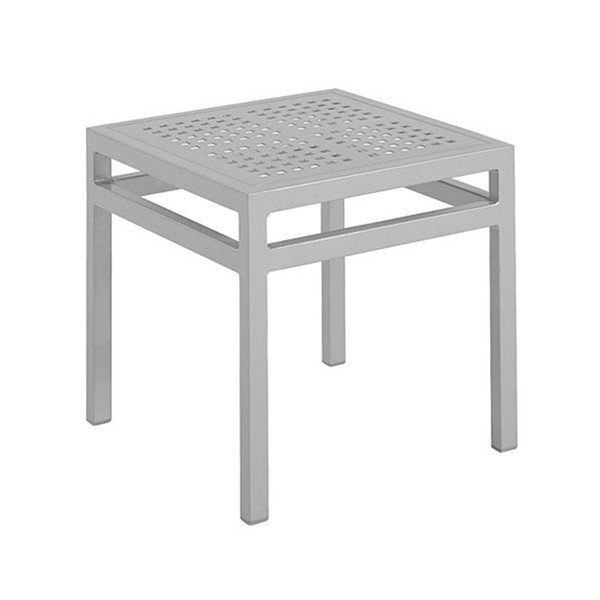 "18"" Valora Square Tea Table with Powder-Coated Aluminum Frame by Tropitone - 7 lbs."