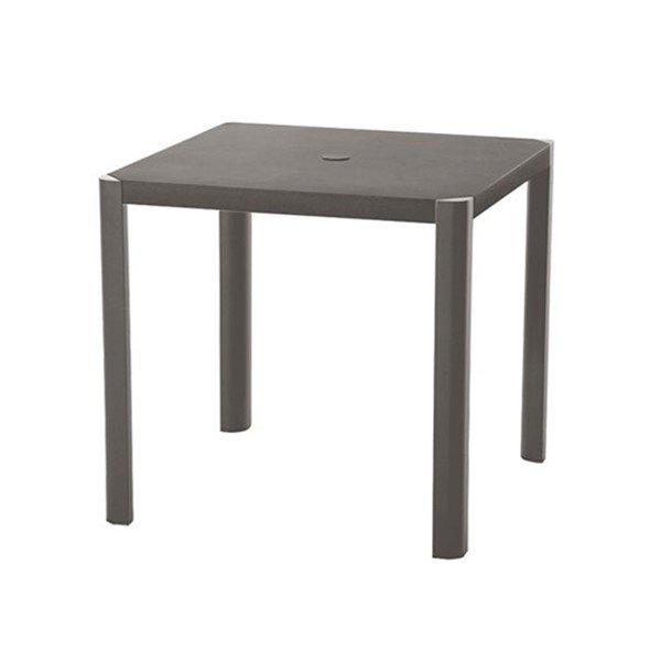 "35"" Square Umbrella Dining Table with Cast Aluminum Frame by Tropitone - 33 lbs."