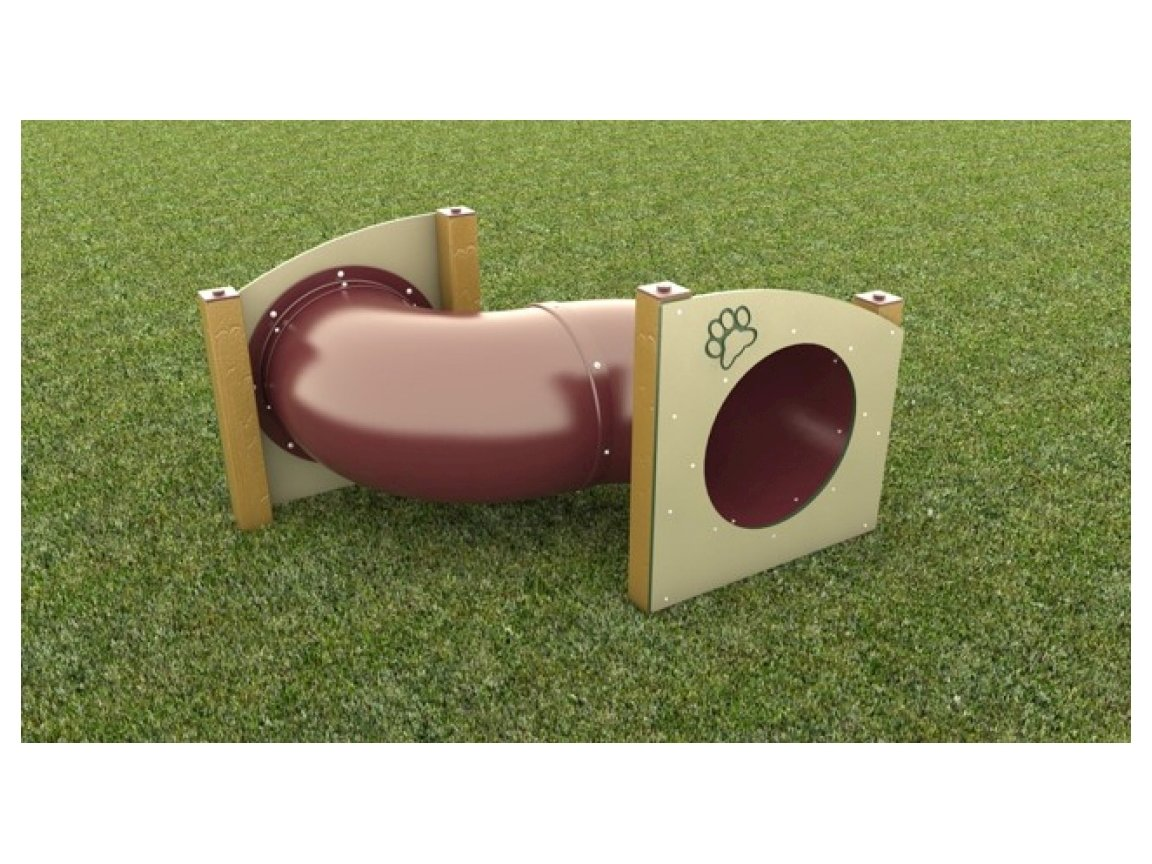 Dog Park Recycled Plastic S Shaped Dog Play Tunnel