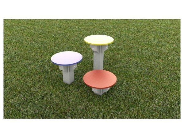 Dog Park Multi-Level Recycled Plastic Dog Stepping Stones - Set of 3