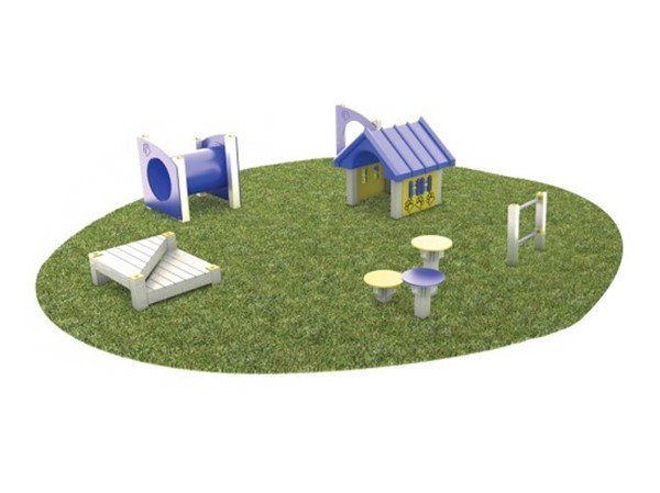 Intermediate Level Recycled Plastic Dog Park Full Furnishing Kit
