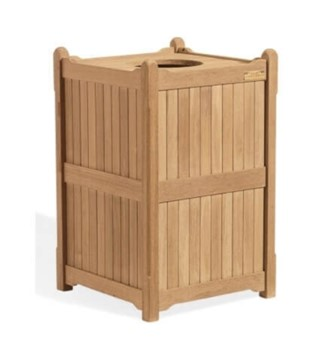 22 Gallon Shorea Wooden Trash Receptacle