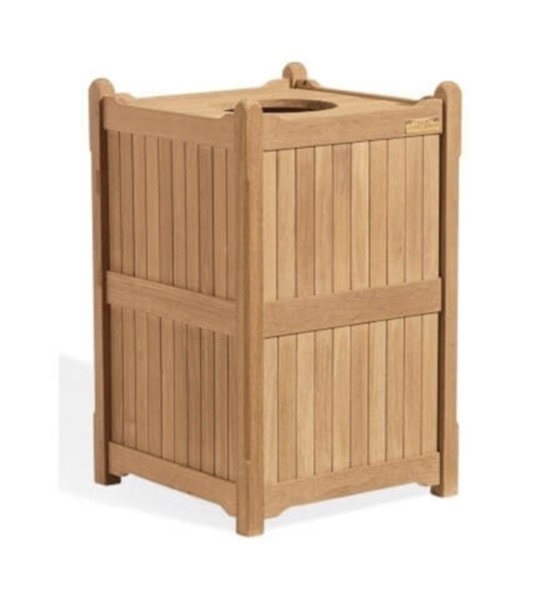 22 Gallon Shorea Wooden Trash Receptacle