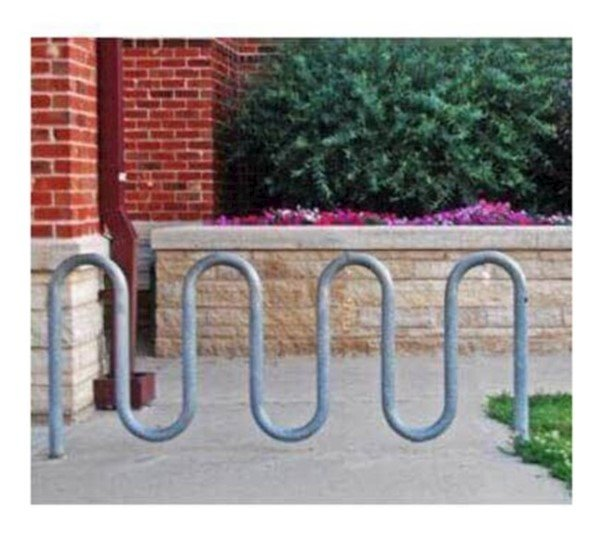 9 Space Loop Bike Rack, Galvanized Steel -