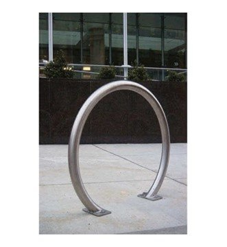 Horseshoe Style Bike Rack, Surface Mount Galvanized