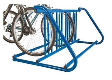 "8 Space ""W"" Style Grid Style Bike Rack, Galvanized Steel"