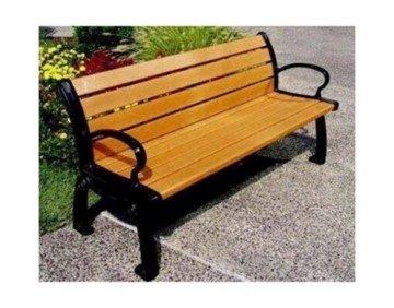 Recycled Plastic Street Style Landmark Bench