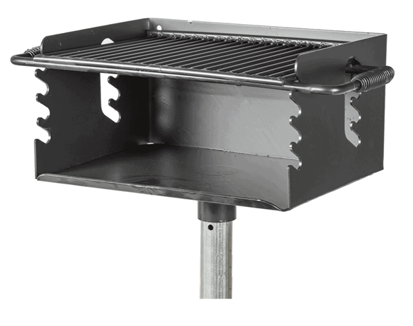 300 Sq In Park Outdoor Charcoal Grill With Flip Grate