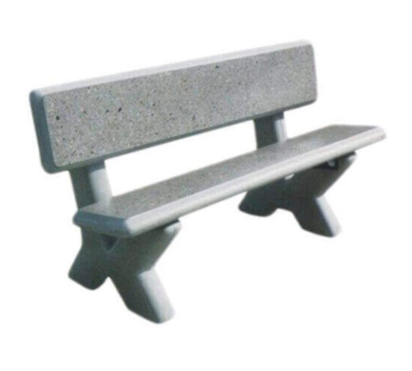 Concrete Park Bench With X Style Aggregate Legs Furniture - Park bench and table