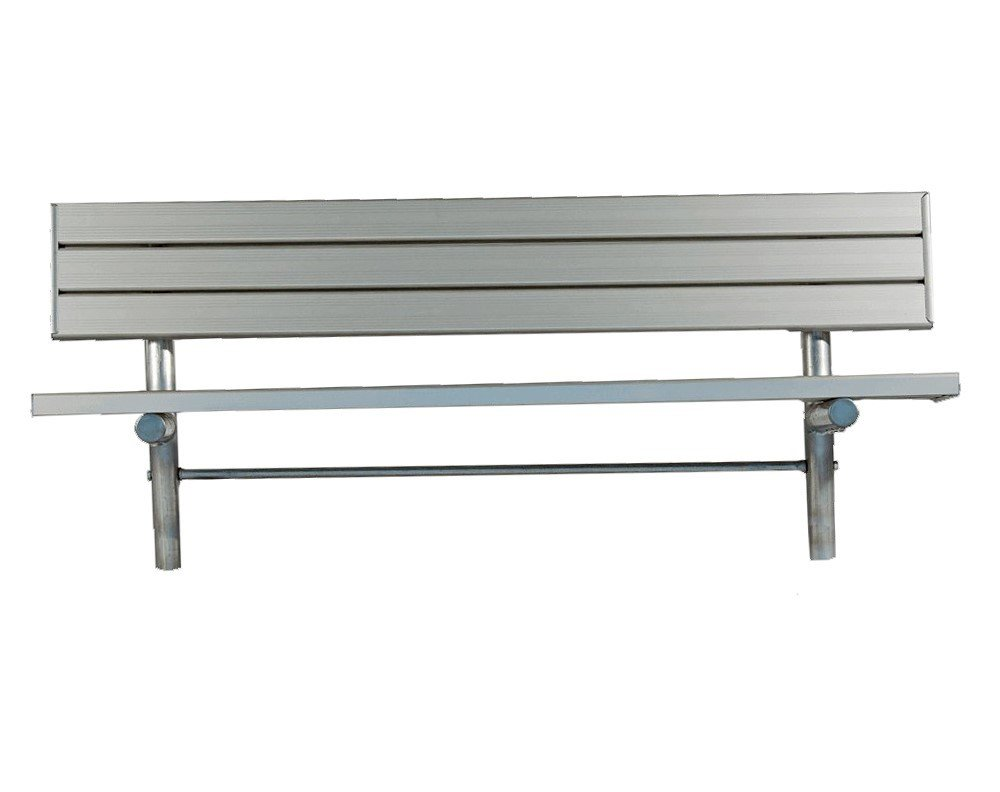 Stationary aluminum slated player bench with galvanized metal frame furniture leisure Aluminum benches