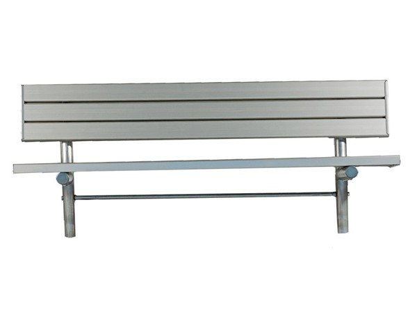 Stationary Aluminum Slated Player Bench With Galvanized