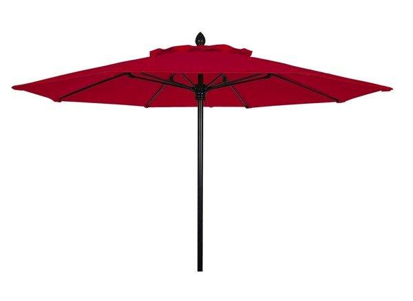 7.5 Ft. Octagonal Commercial Fiberglass Ribbed Market Umbrella With Aluminum Pole And Marine Grade Sunbrella Fabric