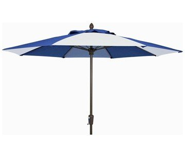 9 Ft. Octagonal Commercial Fiberglass Ribbed Market Umbrella With Aluminum Pole And Alternating Canopy Pattern