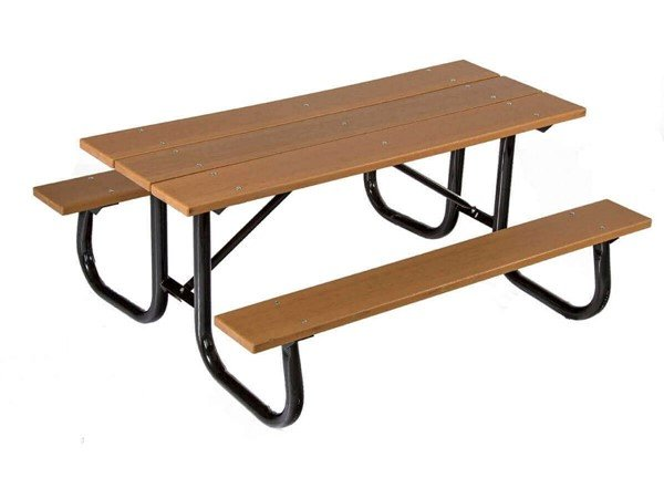 Ft Heavy Duty Recycled Plastic Picnic Table With Welded - Heavy duty picnic table frames