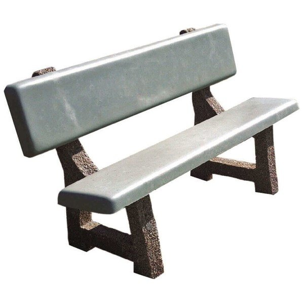 "84"" Concrete Park Bench with Aggregate Legs"