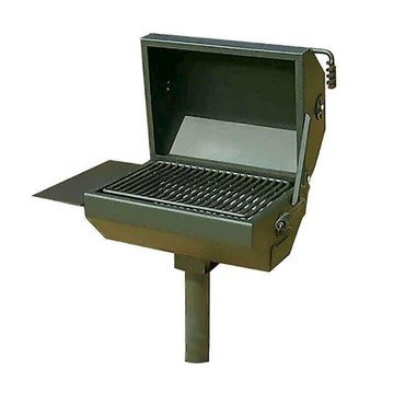 Covered Grill With 500 Sq. In Cooking Surface, Four Position, Inground Or Portable