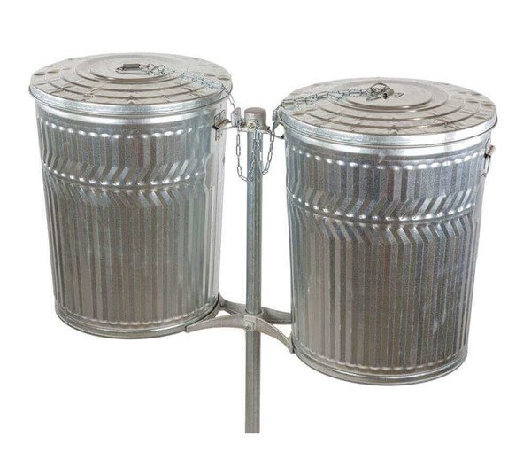Double Sided Galvanized Steel Post For Trash Cans