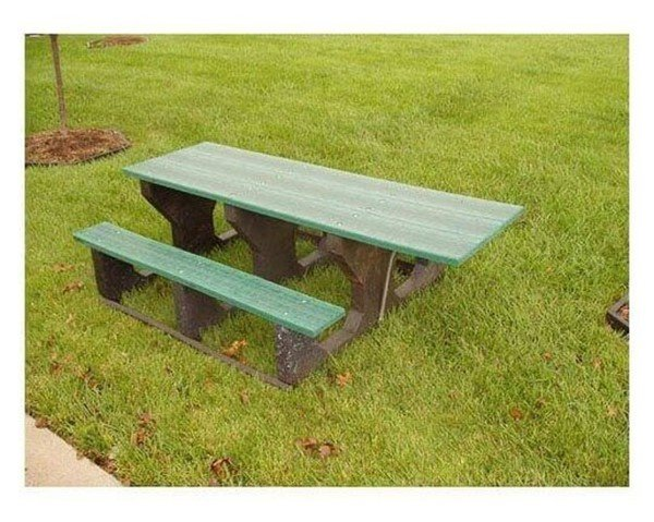 Ft ADA Recycled Plastic Walk Thru Style Picnic Table Furniture - Walk in picnic table