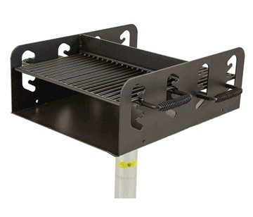302 Sq. In. Cooking Surface Steel Grill With 4 Adjustable Positions And Galvanized Frame