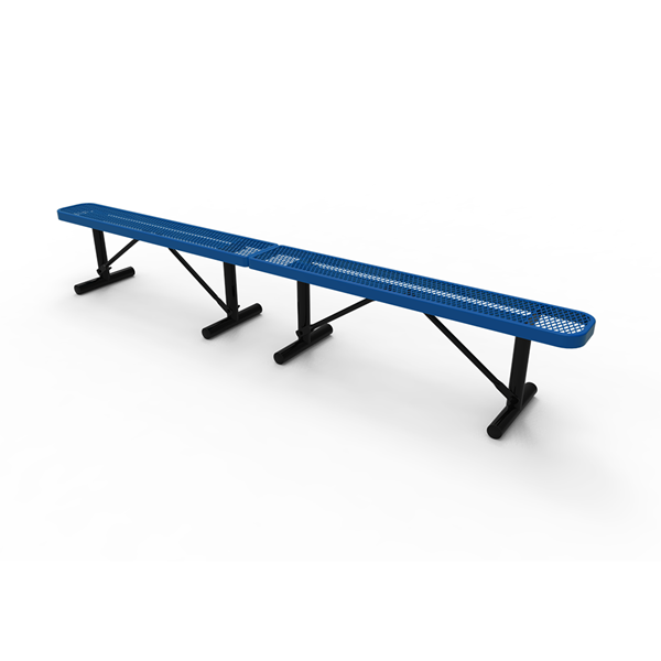 Elite Series 10 Ft Thermoplastic Polyethylene Coated Backless Bench