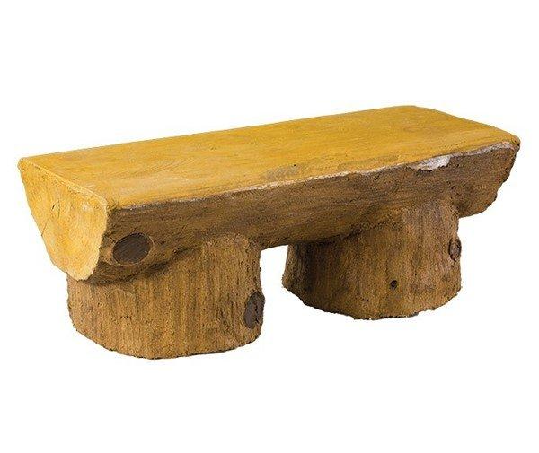 Concrete Log Design Backless Bench