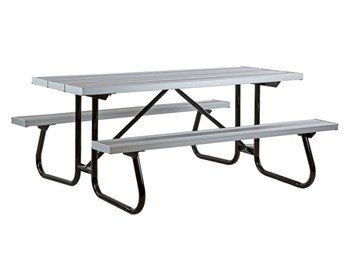 "6 Ft. Aluminum Picnic Table With Powder Coated 1-5/8"" Welded Frame"