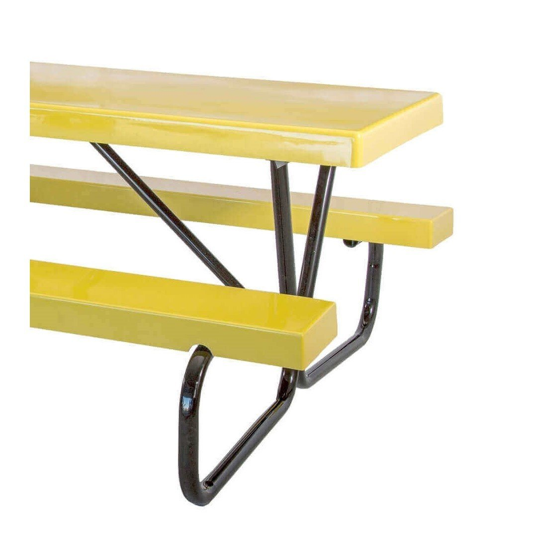 Ft Fiberglass Picnic Table With Galvanized Bolted Frame Portable - Metal picnic table brackets