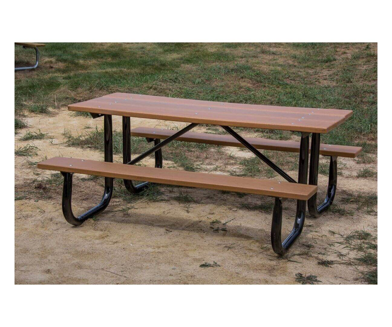 6 ft. heavy duty recycled plastic picnic table with welded