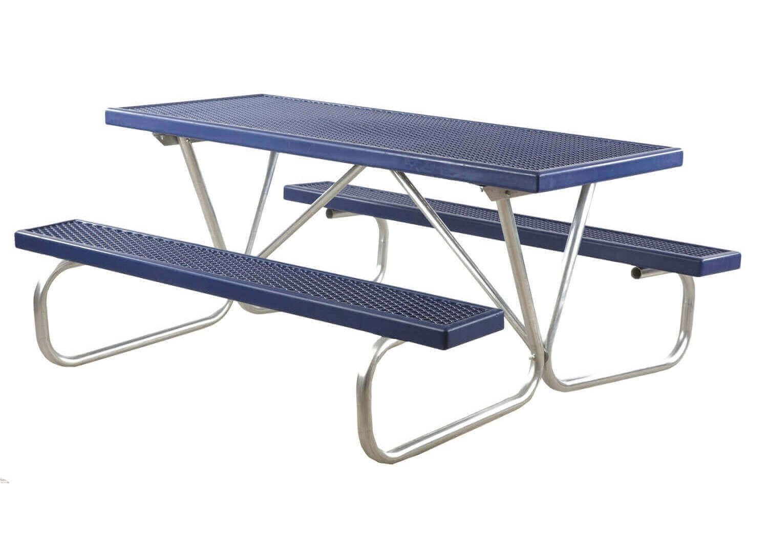 ... 6 Ft. Plastisol Coated Metal Picnic Table With Bolted Galvanized Frame  ...