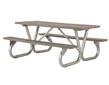 "8 Ft. Recycled Plastic Picnic Table With Galvanized Bolted 2-3/8"" Frame"