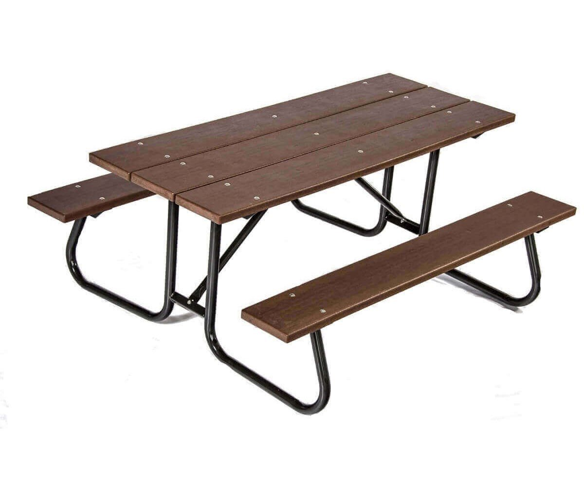 6 Ft Recycled Plastic Picnic Table With Galvanized Welded
