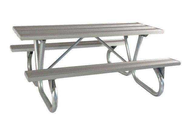 Ft Aluminum Picnic Table With Heavy Duty Bolted OD Tube - Heavy duty picnic table frames