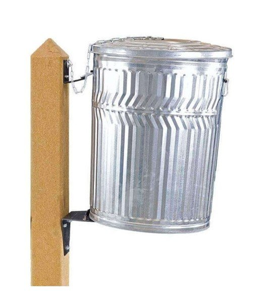 Single Sided Recycled Plastic Can Post For Trash Can