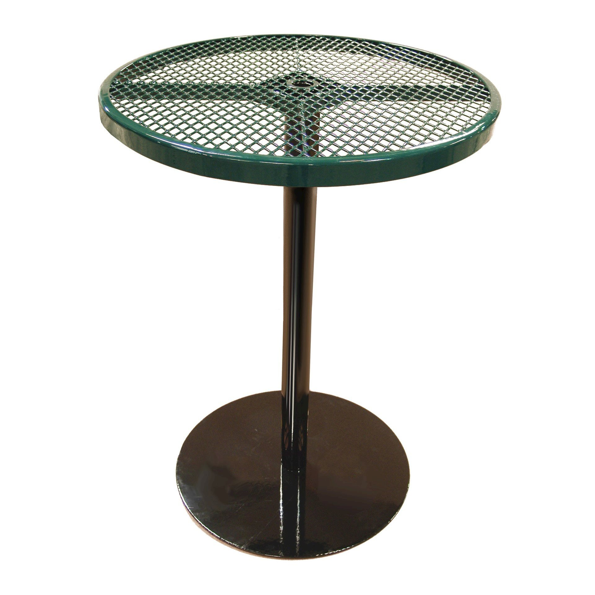 36 Quot Perforated Round Patio Thermoplastic Coated Bar Height