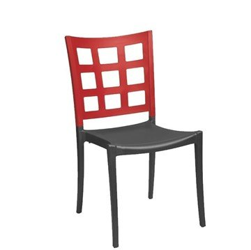 Picture of Plazza Commercial Grade Plastic Resin Dining Chair - 11 lbs.