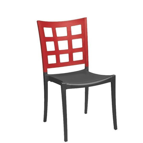 Plazza Commercial Grade Plastic Resin Dining Chair
